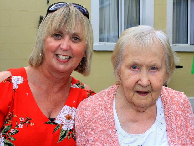 Ger Forrestall with her mum Betty