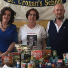 Principal Maeve Tierney, Monica Madden (Smiley's Charity Events) and teacher Karl O Broin