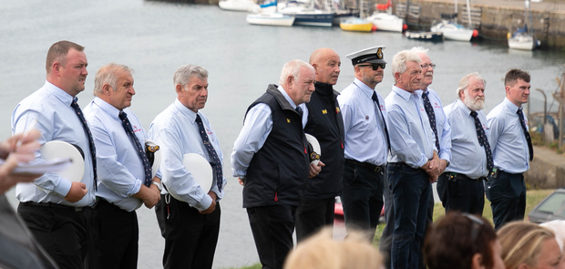 Members of Wicklow RNLI at the ceremony on Saturday