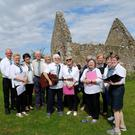 Canadh Le Chéile, led by Brian Whelan, who sang at the event at St Crispin's Cell, Greystones
