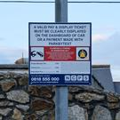 A sign warning of clamping