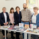 Niamh Maguire and Joan Fitzpatrick of KWETB with students Christina Plunkett and Rosie Griffiths, and Mark Sayers and Clodagh Bourke of Bray Library as they celebrated National Adult Literacy Week at Bray Library