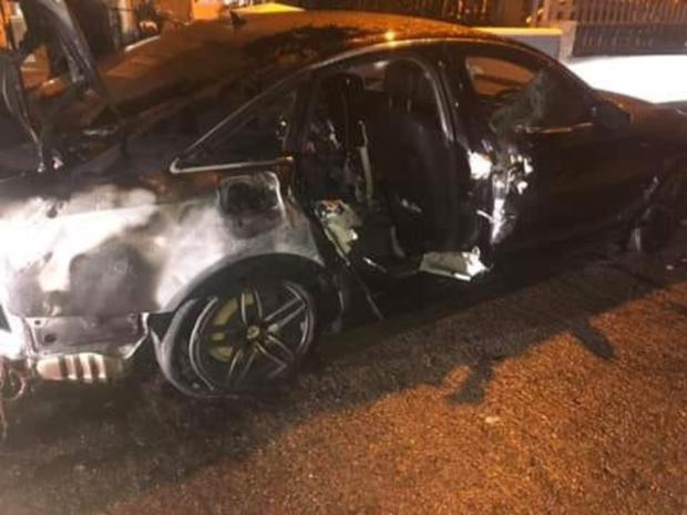 The Audi which was set on fire in Little Bray last week