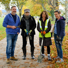 Brian Macsweeney, Luaithríona Murphy, Carmen Cullen and Siobhan Kilbane from the Dargle Area Residents Association joining Bray Tidy Towns for a clean-up at People's Park on Saturday morning