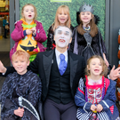 Sadhbh and Laoise Young, Emily and Callum Thoresen and Isabella Doyle with Dracula