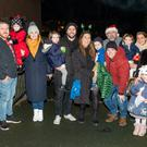 Fair City actor Ben Condron with family and friends at the switching on of the lights in Enniskerry: Ben and Bonnie Condron, Rachel Byrne, Sophie and Ross Condron, Lana, Theo and Andy Byrne, Neil, Hazel, Suzie and Jean Condron and Matilda Byrne