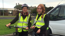 Carmen O'Connor Foote and Ava May Taylor arriving at Loreto Bray