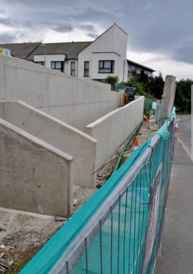 The ramp installed at Farrankelly Close, which leads from the main playing area down to the road