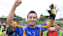 A delighted Ciarán Hyland after the final whistle in Aughrim