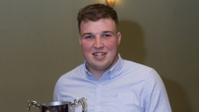 Kilavaney captain Rory Stokes with the cup last weekend
