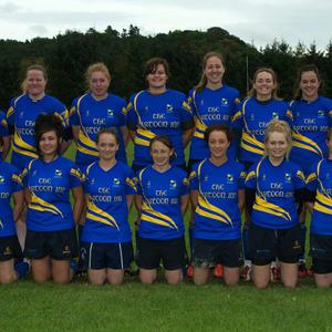 The Rathdrum women's team who defeated Portlaoise in Portlaoise last weekend