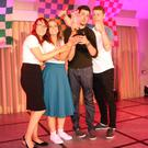 Shannen Corrigan, Áine Byrne, Paul Murray and Liam Byrne of the 'Cheddarheads' who won the title
