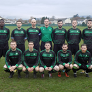 The Shamrock Bhoys team who served up a thriller against Newtown Rangers