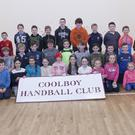 Some of the juvenile members of the Coolboy Handball Club at training on Monday night last