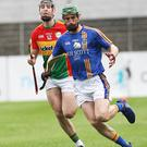 Wicklow's John Henderson in action against Carlow.