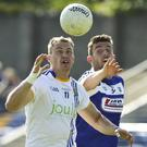 Wicklow's Dean Healy and Laois' Colm Begley race for the ball during the All Ireland Senior championship qualifiers Round 1A in Joule Park, Aughrim. Pictures: Garry O'Neill