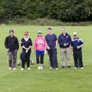 Some of the golfers competing in the inter-club challenge