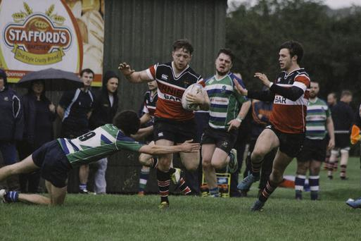 Wicklow RFC on the attack in Gorey.