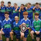 The AGB under-15 footballers who defeated Michael Dwyers to claim the under-15 'C' football title in Tinahely last weekend