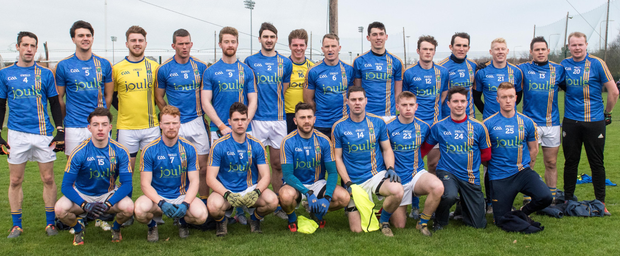 The Wicklow team who played against Carlow in Bray. A reshuffled pack fell heavily to Meath in Navan
