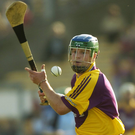 New Bray Emmets hurling boss Paul Carley in action for Wexford