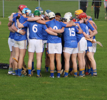 The Wicklow hurlers have one final huddle before their clash with Down in Ballycran last Sunday