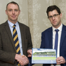 Owen Doyle, Wicklow GAA Chairman Martin Fitzgerald Gerard O'Brien of the Wooden bridge Hotel, who are sponsors of the Player Pathway booklet, and Hugh Kenny