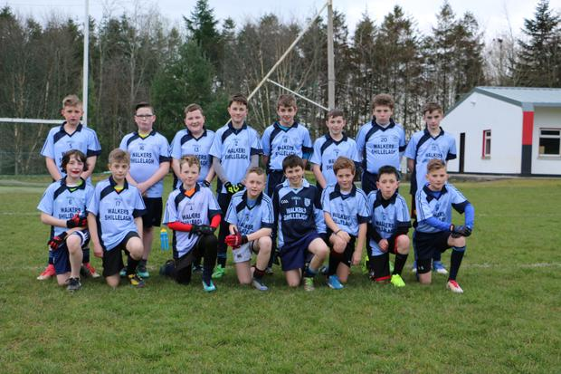 The St Mary's under-13 footballers who defeated Tinahely in the Under-13 Football League in Coolkenno on Monday evening last.