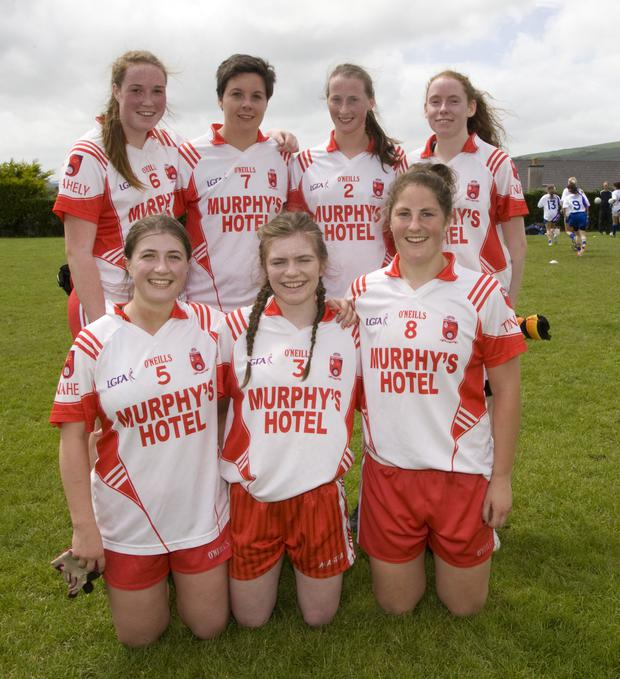 One of the Tinahely teams at last year's Ellen Kinch Memorial tournament. Photo: Joe Byrne