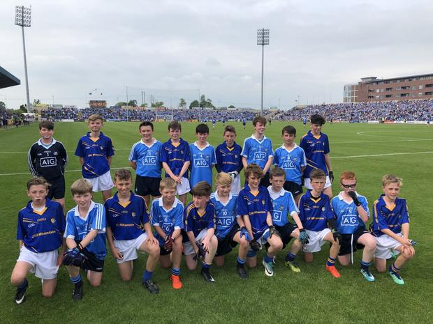 The Wicklow and Dublin footballers who played at half-time in the Leinster SFC in Portlaoise.