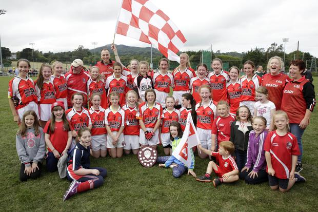 Valleymount, who defeated Coolkenno in the Under-14 'B' Cup final in Bray last weekend. Photos: Barbara Flynn