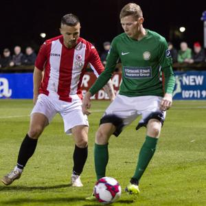 Bray's Kevin Lynch gets the ball under control in the SSE Airtricity League Premier Division clash