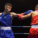 Enniskerry Boxing Club's Sean Purcell in action against Conor Kerr