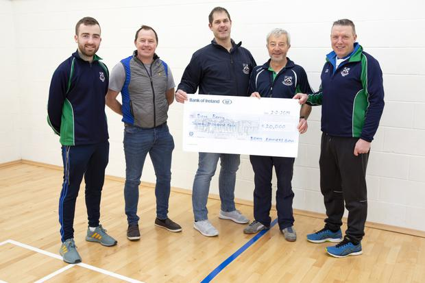 Bray Emmets Academy sponsor Jamie Quiney of Eco Warmer Homes, Ciaran Barnes, assistant secretary, Gary Prunty, juvenille Chairperson, Dave Barry, and Willie Braine, club coach.