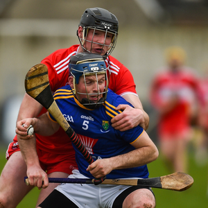 Wicklow's Gary Byrne comes under pressure during the league final on Sunday afternoon in Iniskeen