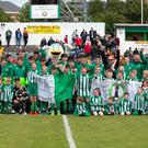 Enniskerry YC members and officials at the Carlisle Grounds for the Bray Wanderers v Shelbourne clash last weekend