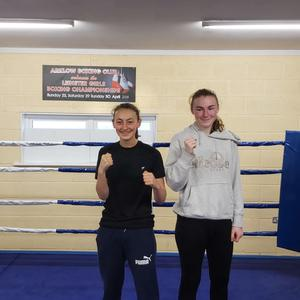 Arklow Boxing Club's Amber Byrne and Tegan Farrell