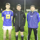 Wicklow captain Andy Maher (left) before the toss
