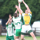 Dunlavin's Aaron Phelan gathers the ball