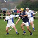 George O'Brien of Wicklow and Makwan Morilidi of IT Tallaght keep their eyes on the ball