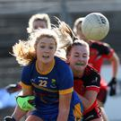 Wicklow's Sarah Miley is challenged by Cliodhna Doherty of Down