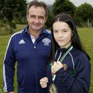Daina Moorehouse and her coach Paul O'Toole