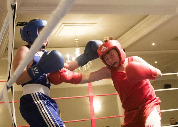 James Maguire and Josh Browne in action