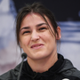 Katie Taylor during a press conference at the Courthouse Hotel in Shoreditch, London. Photo by Stephen McCarthy/Sportsfile