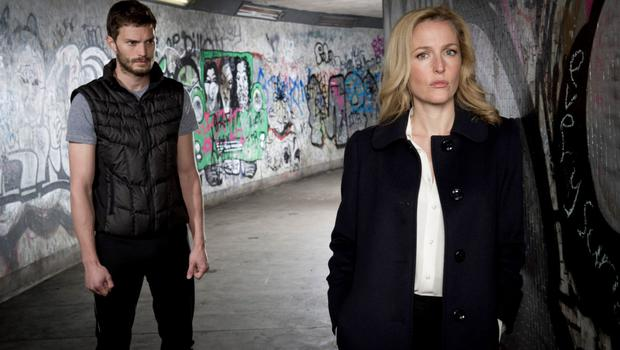 Actors Jamie Dornan and Gillian Anderson in the second gripping series of The Fall