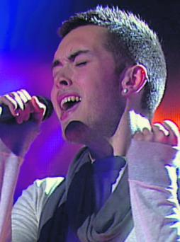 Keith Hanley from Charleville singing on Voice of Ireland.