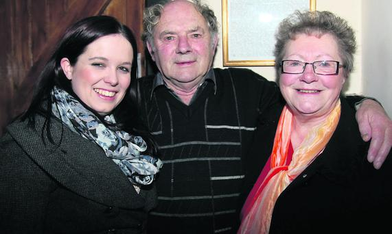 Louise Bourke, IRD Duhallow, Jim Barry, Newmarket, and Peggy Lynch, Ballinagree, at the opening of the newly refurbished Heritage Centre in Freemount. Photo by Sheila Fitzgerald