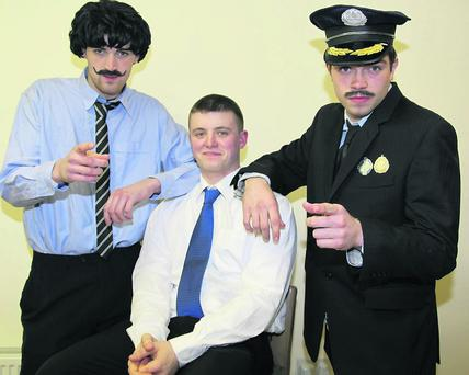 Dan Sheahan, Terry Cantillon, and Haulie O'Riordan, took part in Kilbrin's Got Talent. Photo: Sheila Fitzgerald.