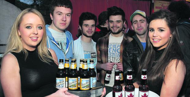 Revellers at the Indiependence Music Festival Launch in the Franciscan Well, Cork last week.