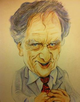 Artist Donal O'Keeffe's impression of TV3 journalist Vincent Browne.